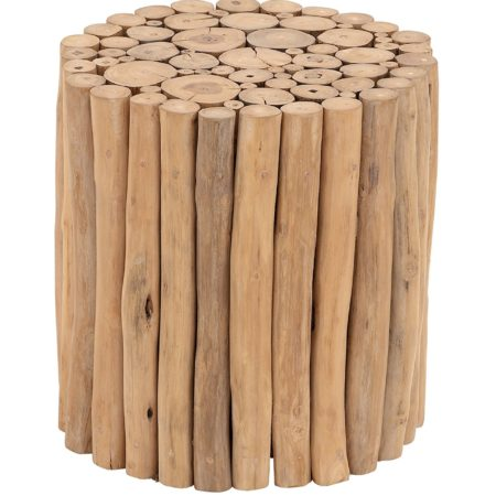Foot stool made out of wooden branches