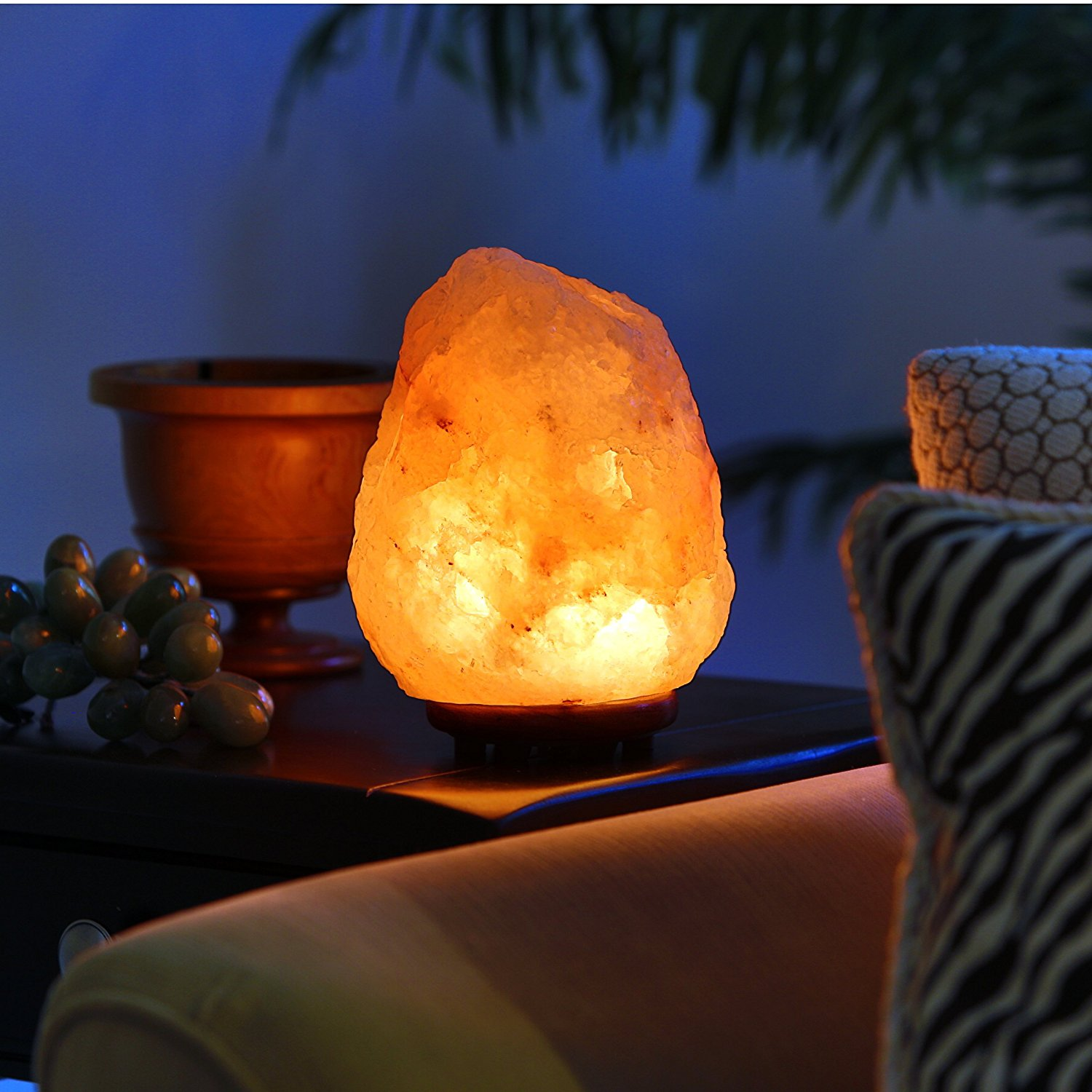 Himalayan Salt Lamp Leave On : Himalayan Hand Carved Salt Lamp - Did not Know I Wanted That