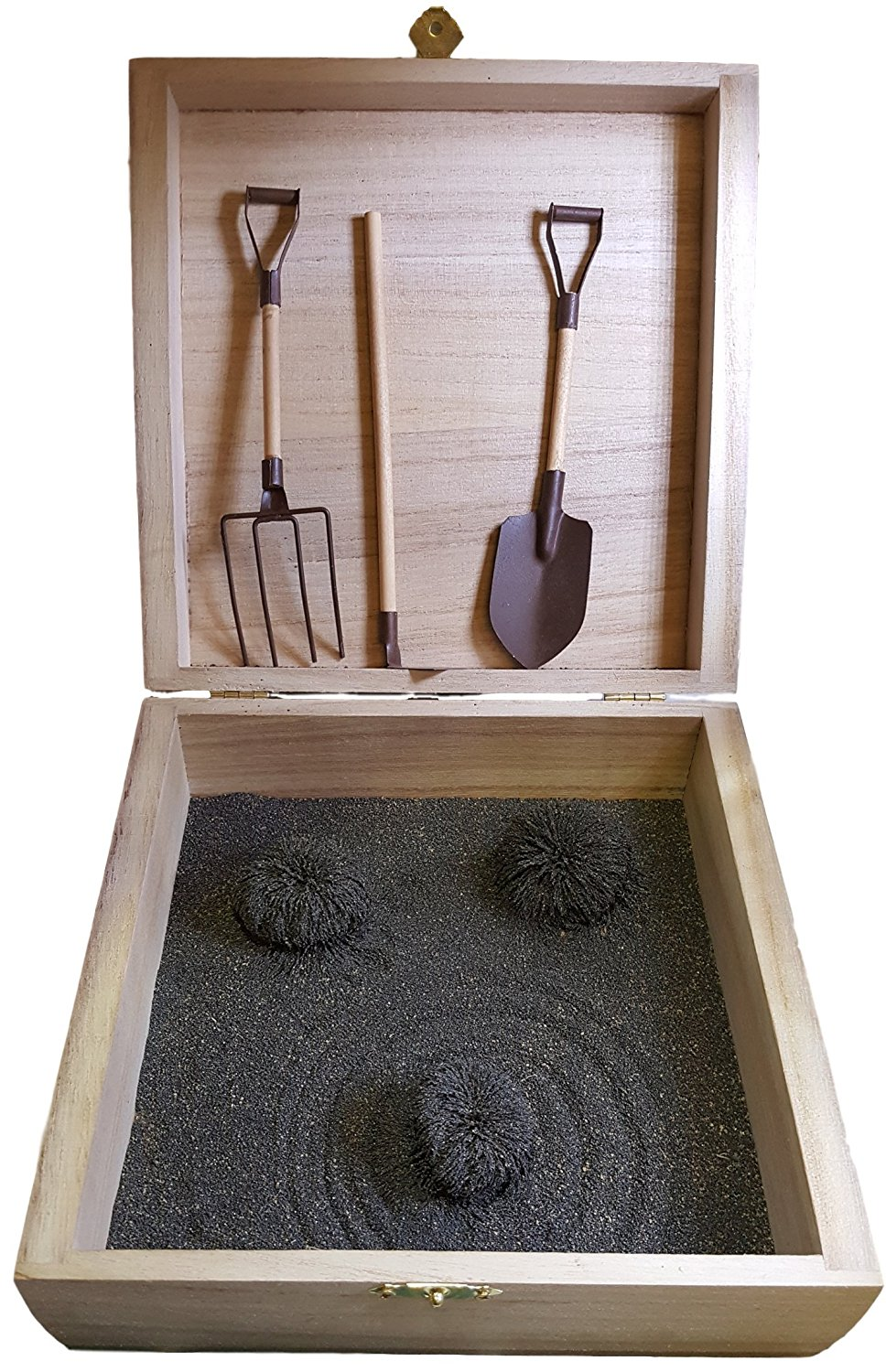 Zen Garden Box With Tools That Has Magnetic Sand