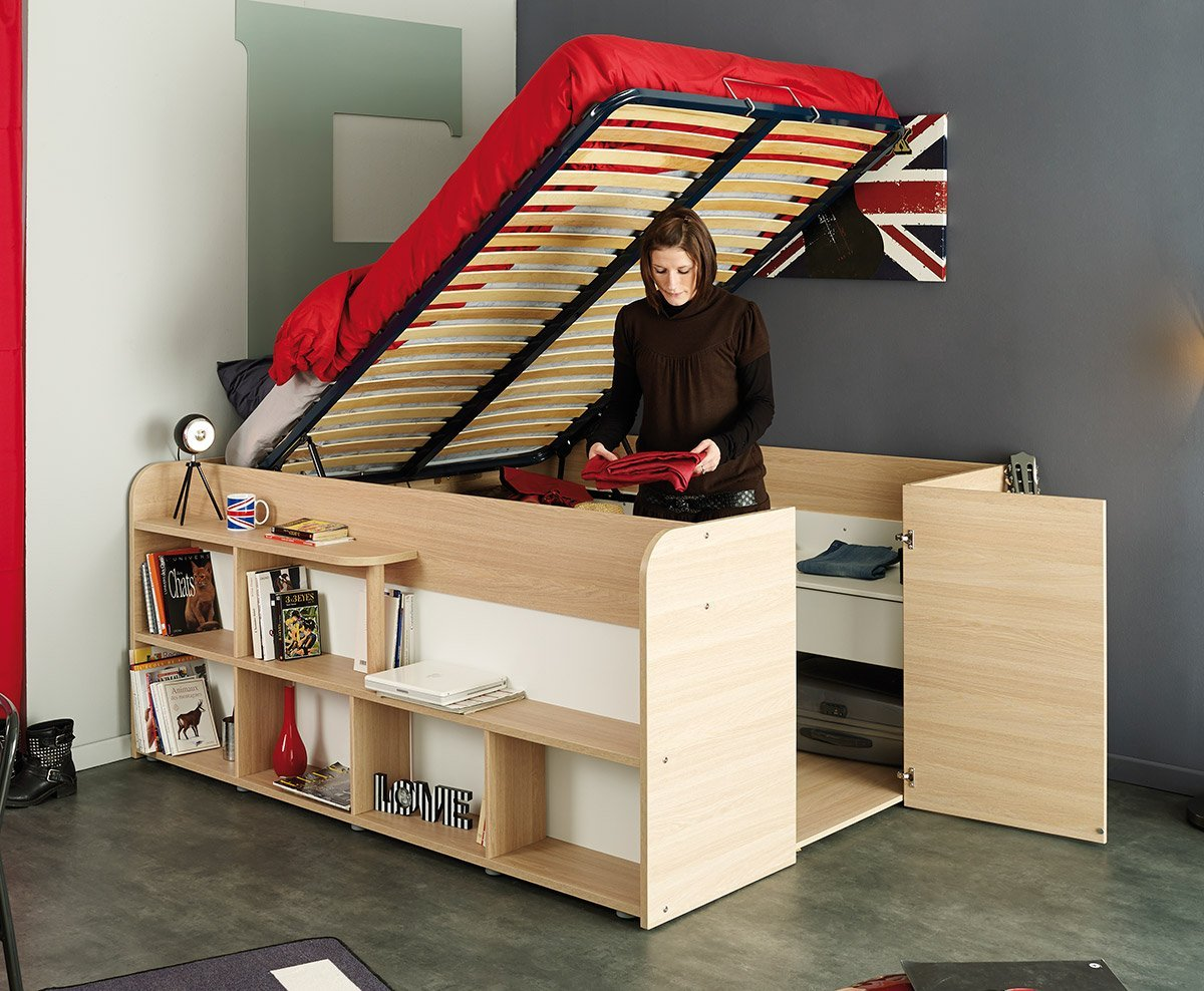 bed that rises up with storage space below and on the sides & SPACE SAVING STORAGE BED - Didn\u0027t Know I Wanted That