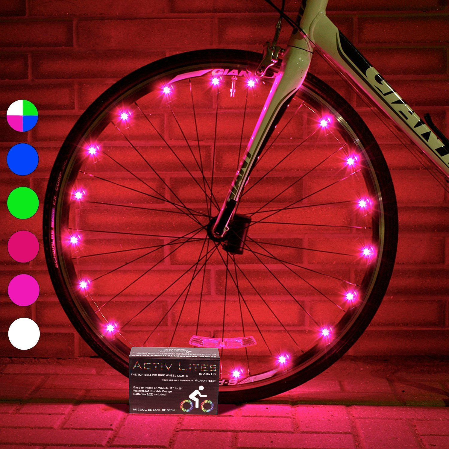 samlite led bike lit set trip product lights usb light rechargeable lighting