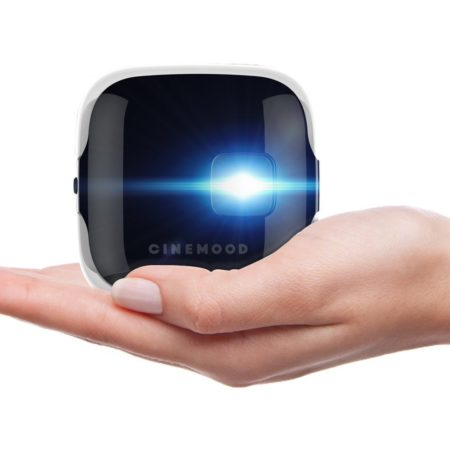 portable projector that projects high definition streaming video onto any surface