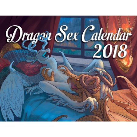 funny 2018 calendar depicting dragons engaged in sexual activity
