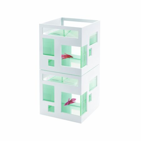 stackable aquariums that look like hotels or condominiums