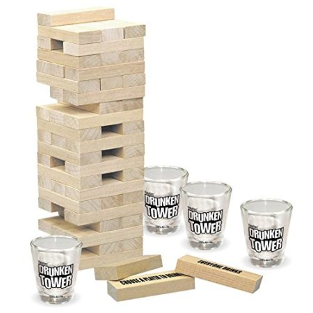 variation of jenga game as a drinking game