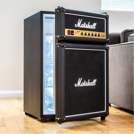mini fridge shaped like a marshall amplifier
