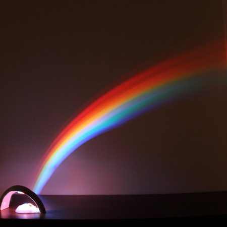 night light projects image of rainbow on wall
