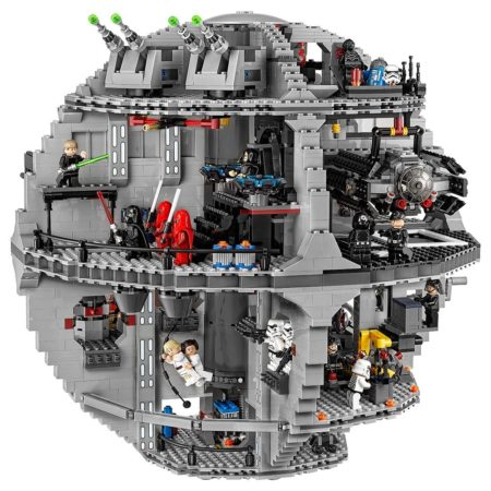 Lego replica of the death star from star wars