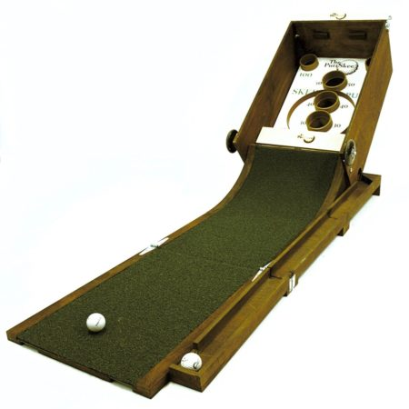 game that is mix between golf putting and skee ball