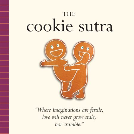 funny karma sutra parody book with gingerbread cookies in various sexual positions