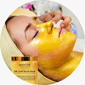 facial mask made with 24 karat gold