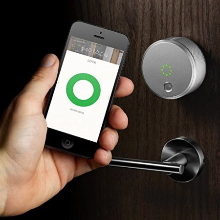 Door lock for home that is controlled via app on smartphone