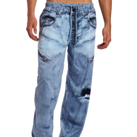 faux denim soft and comfortable pajama pants for men