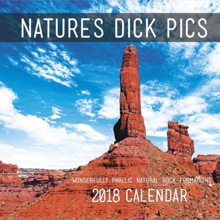 calendar depicting structures found in nature that resemble male genitalia
