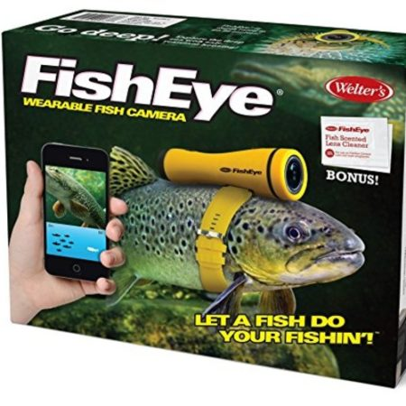Prank box of a camera that you strap onto a fish's head to help you find fish to catch