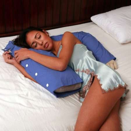 funny pillow shaped like an upper body torso of a man for snuggling with