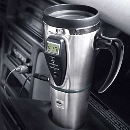 chargeable mug that allows you to set and maintain the exact temperature of your hot beverage
