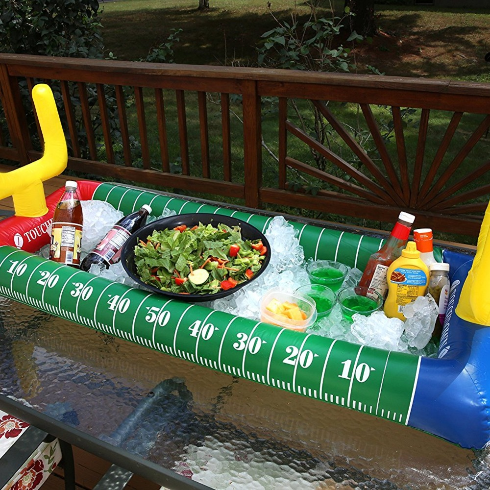 Superbe Inflatable Serving Tray That Looks Like A Football Field And Acts As A  Cooler