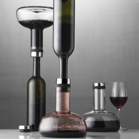 carafe that aerates wine and also lets you pour it back into the bottle