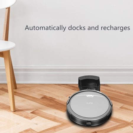 robot vacuum that automatically cleans the floor for you and returns to its charging dock to charge itself when done
