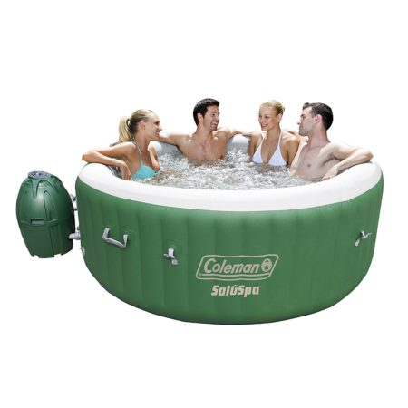 portable and inflatable hot tub with pump and heater