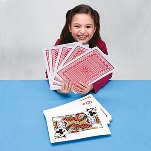 hilariously oversized playing cards