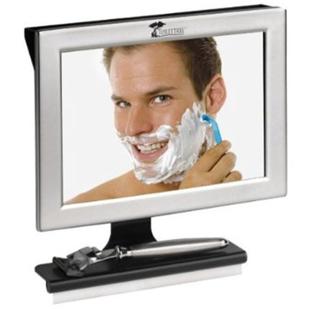 cool fogless shower mirror with squeegee