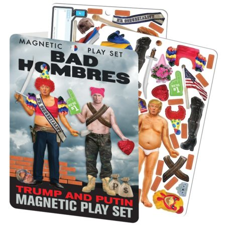 magnetic dress up doll set featuring vladmir putin and donald trump