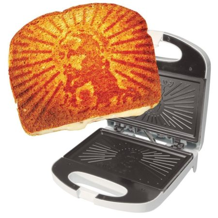 grilling sandwich press that imprints the face of jesus on your sandwich