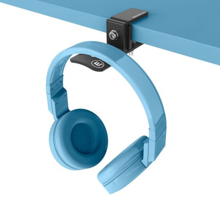 shelf hanger that holds your headphones for you in style