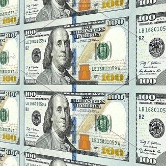 image of a sheet of $100 bills