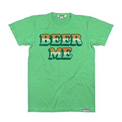 "st patricks day shirt that says ""beer me"" on it"