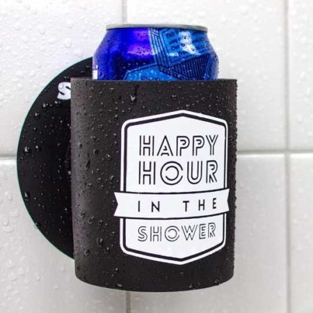 koozie that sticks to your shower wall and holds your beer while you shower