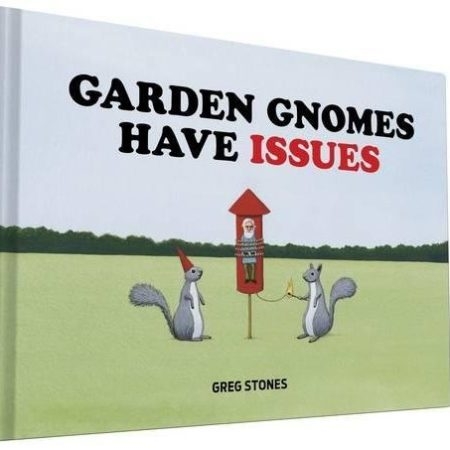 funny book featuring artwork of gnomes getting into hilarious trouble out in the wild
