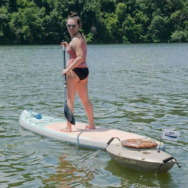 cooler that floats behind your standup paddle board or canoe