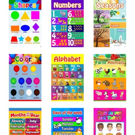 Educational posters for toddlers, preschoolers, and kindergartners